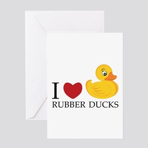 Love Rubber Ducks Greeting Cards