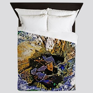 Tree Abstract Silk Screen Queen Duvet