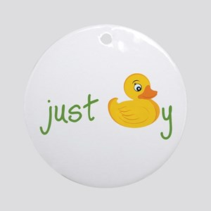 Just Ducky Ornament (Round)