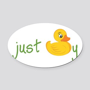 Just Ducky Oval Car Magnet