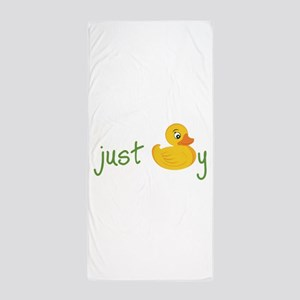 Just Ducky Beach Towel