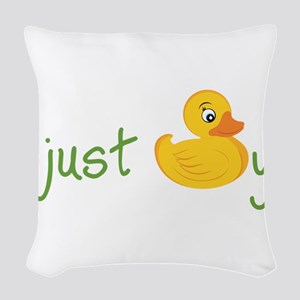 Just Ducky Woven Throw Pillow