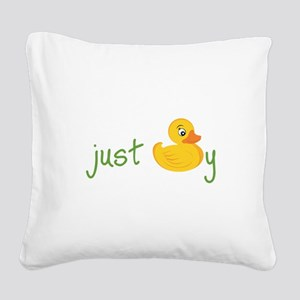 Just Ducky Square Canvas Pillow