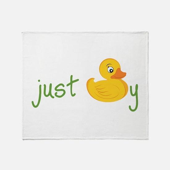 Just Ducky Throw Blanket
