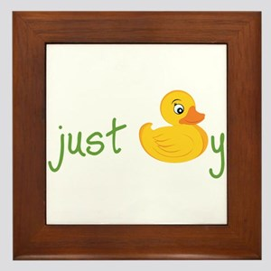 Just Ducky Framed Tile
