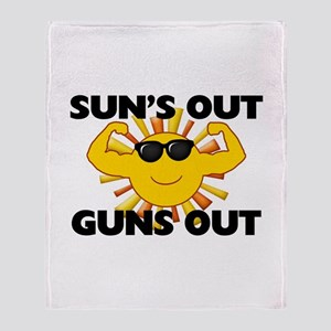 Sun's Out Guns Out Throw Blanket