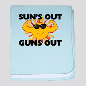 Sun's Out Guns Out baby blanket
