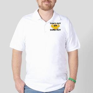 Sun's Out Guns Out Golf Shirt