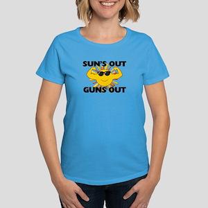 Sun's Out Guns Out Women's Dark T-Shirt