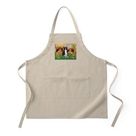 Cherubs/Border Collie BBQ Apron