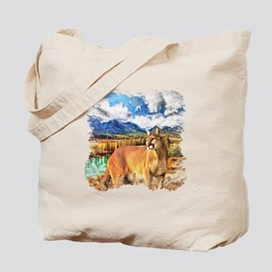 River Cougar Tote Bag