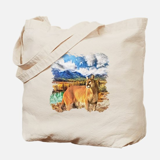 River Cougar Tote Bag
