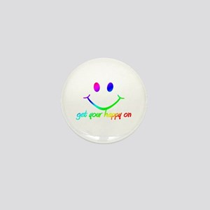 GET YOUR RAINBOW HAPPY ON Mini Button
