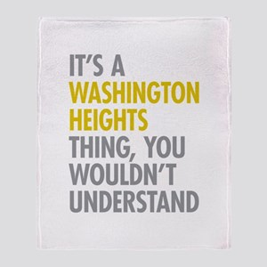 Washington Heights Thing Throw Blanket
