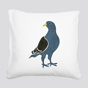 Fashionista Pigeon copy Square Canvas Pillow