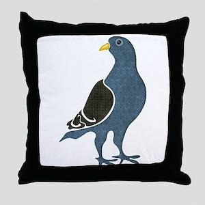 Fashionista Pigeon copy Throw Pillow