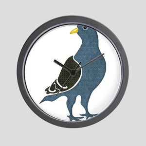 Fashionista Pigeon copy Wall Clock