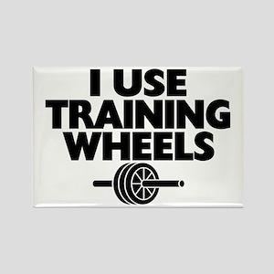 I Use Training Wheels Rectangle Magnet