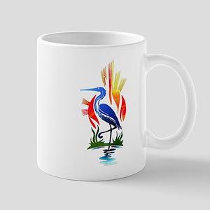 Blue Heron Sun and Marsh Mugs