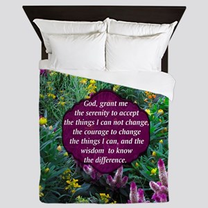 SERENITY PRAYER Queen Duvet