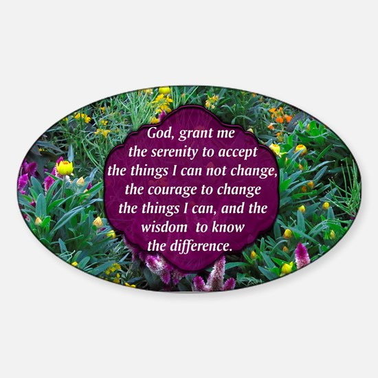 SERENITY PRAYER Sticker (Oval)