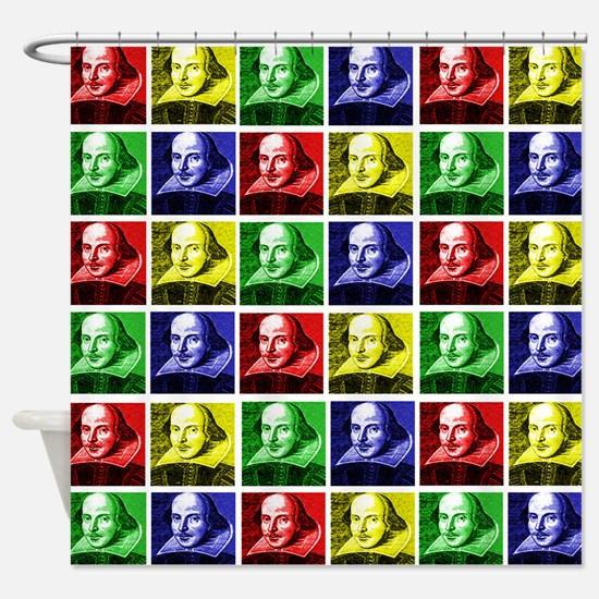 Pop Art Shakespeare Shower Curtain