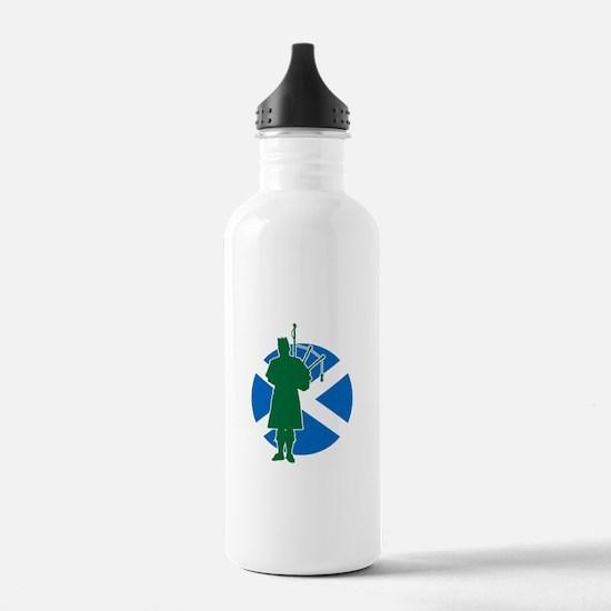 Scottish Piper Sports Water Bottle