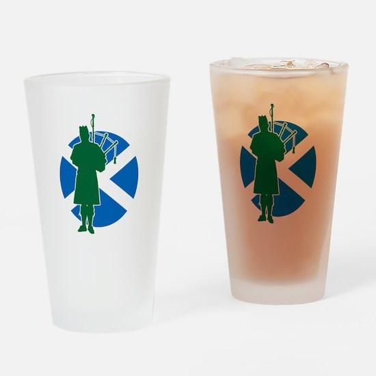 Scottish Piper Drinking Glass