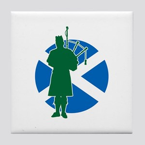 Scottish Piper Tile Coaster