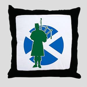 Scottish Piper Throw Pillow