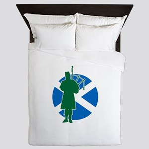 Scottish Piper Queen Duvet