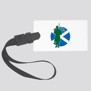 Scottish Piper Large Luggage Tag