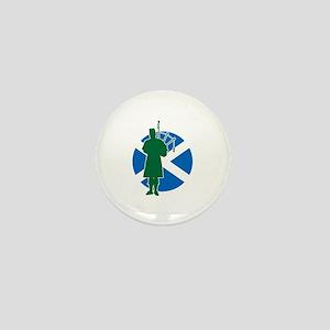 Scottish Piper Mini Button