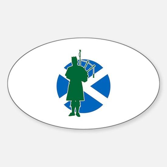 Scottish Piper Sticker (Oval)