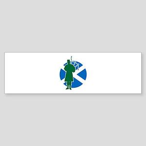 Scottish Piper Sticker (Bumper)