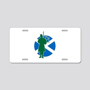 Scottish Piper Aluminum License Plate