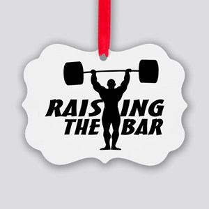 Raising The Bar Picture Ornament