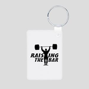 Raising The Bar Aluminum Photo Keychain
