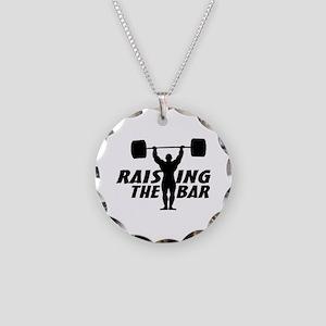 Raising The Bar Necklace Circle Charm