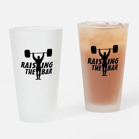 Raising The Bar Drinking Glass