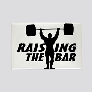 Raising The Bar Rectangle Magnet