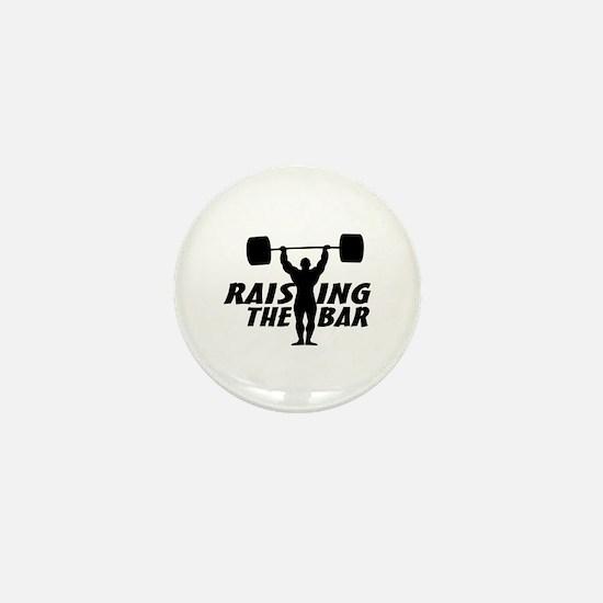 Raising The Bar Mini Button