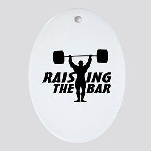 Raising The Bar Ornament (Oval)
