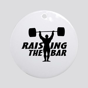 Raising The Bar Ornament (Round)