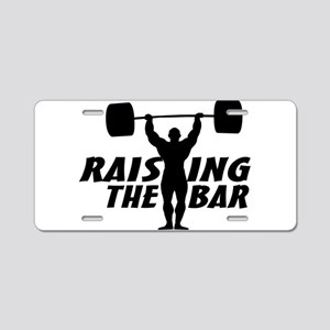 Raising The Bar Aluminum License Plate
