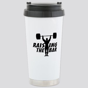 Raising The Bar Stainless Steel Travel Mug
