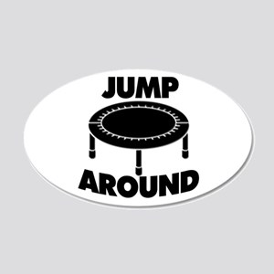 Jump Around Trampoline 20x12 Oval Wall Decal