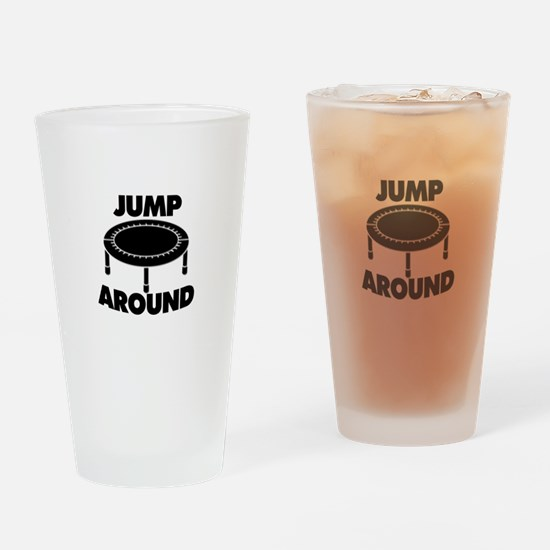 Jump Around Trampoline Drinking Glass