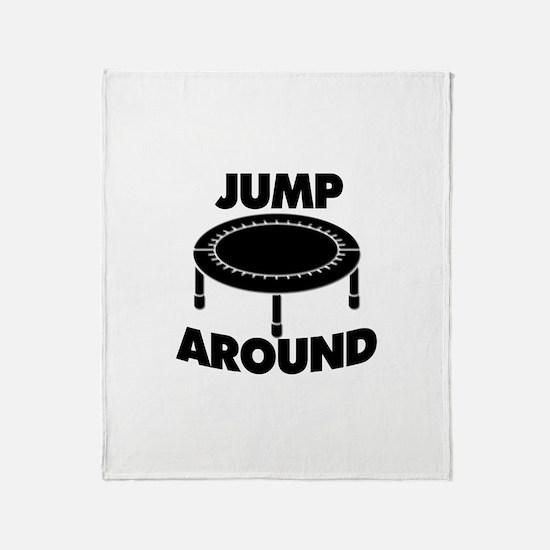 Jump Around Trampoline Throw Blanket