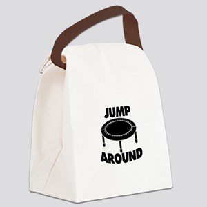 Jump Around Trampoline Canvas Lunch Bag